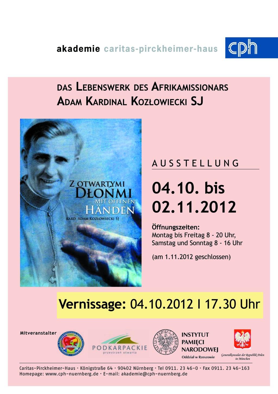 """2012.10.04 Otwarcie Wystawy ,,Z Otwartymi Dłońmi"""" W"""