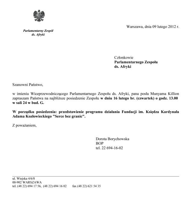 20120216 Fundacja Kozłowieckiego Na Zaproszenie W Sejmie Rp