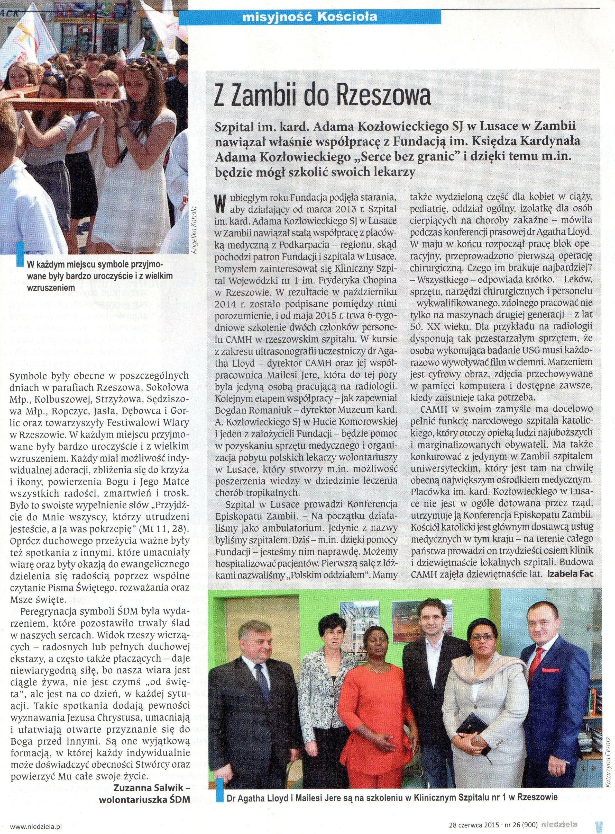 Artykuł - Niedziela Rzeszowska, 28.06.2015