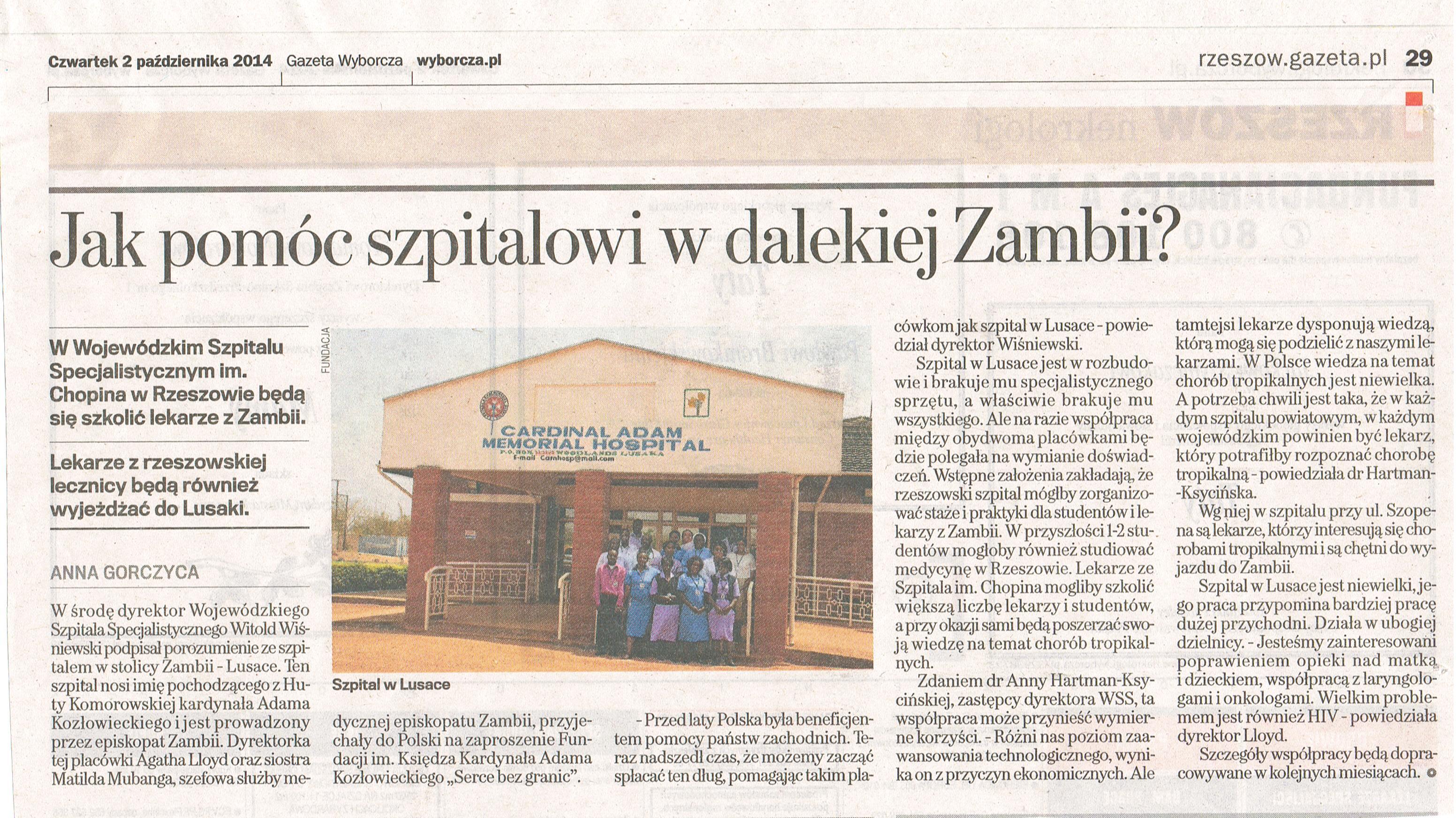 Gazeta Wyborcza, 02.10.2014
