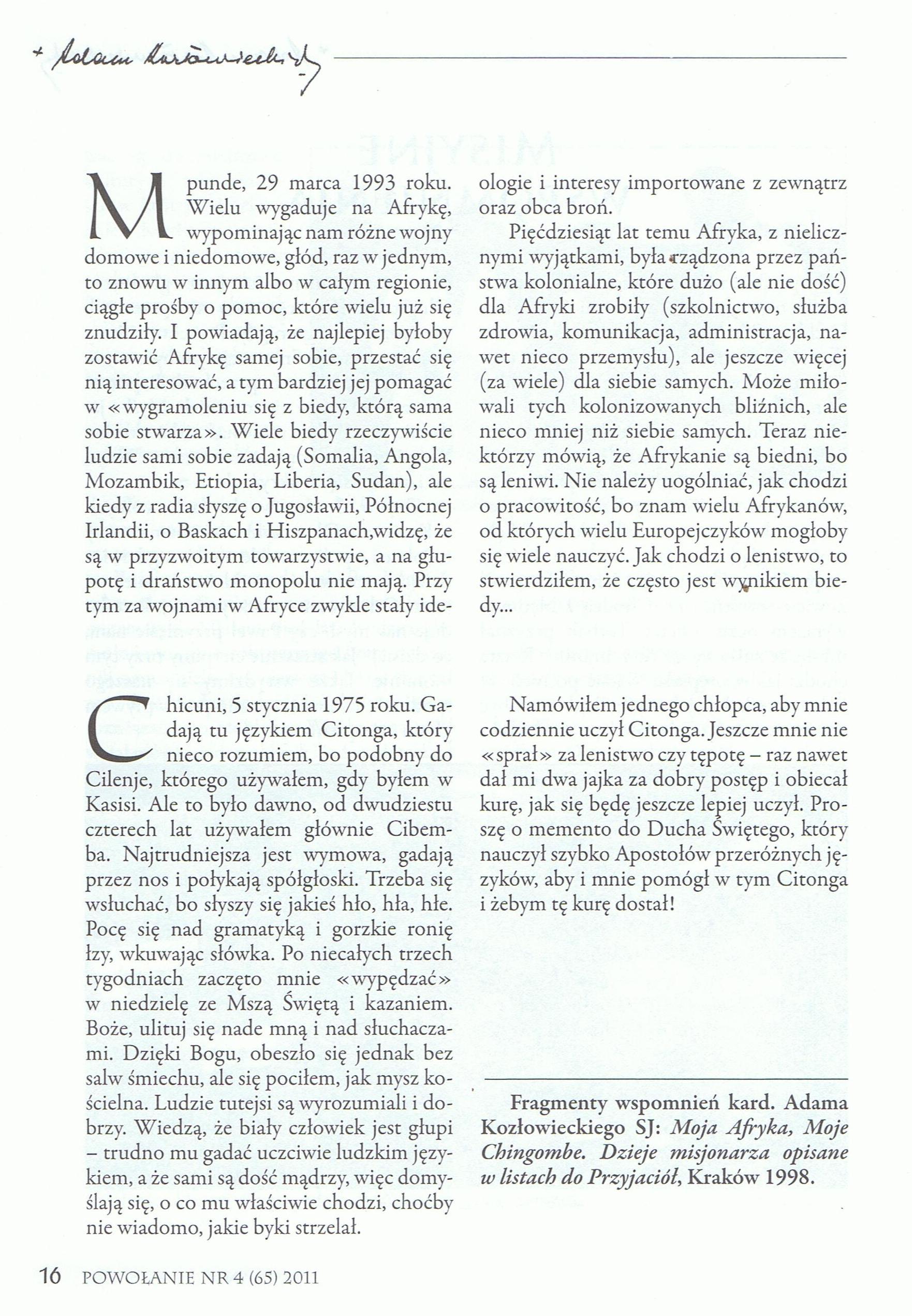 Powołanie, str. 20