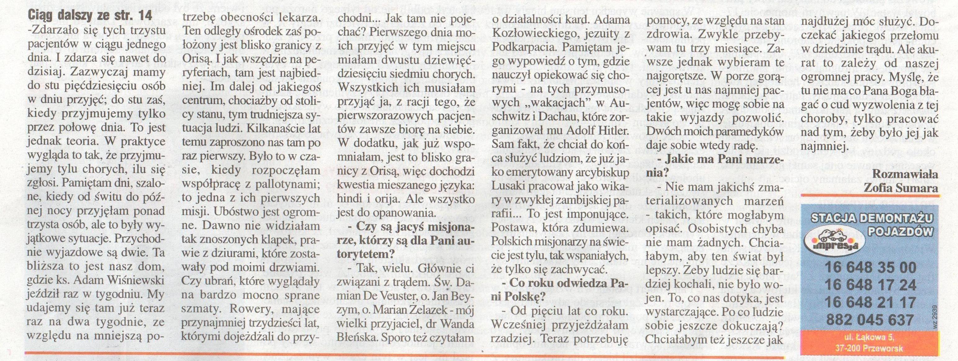 Wywiad z Panią dr Heleną Pyz, cz. 3